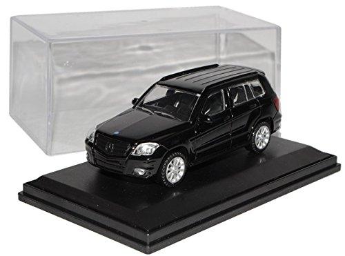 Mercedes-Benz-GLK-X204-SUV-Schwarz-2008-2012-vor-Facelift-mit-Sockel-und-Vitrine-143-Modellcarsonline-Modell-Auto-mit-oder-ohne-individiuellem-Wunschkennzeichen