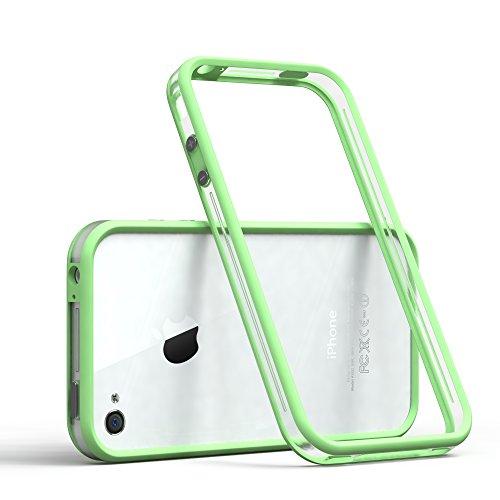 EAZY CASE Bumper für iPhone 4 / iPhone 4S Silikon Bumper für Apple iPhone 4 / iPhone 4S - Flexible Schutzhülle ALS Rahmenschutz in Grün