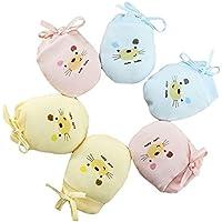 Affe 3 Paare Baby Handschuhe Neugeborene No Scratch Fäustlinge Kratzhandschuhe Unisex