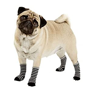 Chaussettes antidérapantes chien L