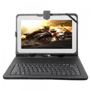 """AM1005 10.1"""" A20 Dual-Core Android 4.2 1GB / 8GB Tablet PC White with Keyboard Case"""