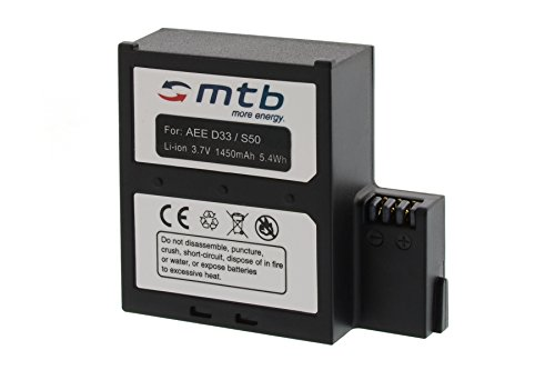 Ersatz-Akku für AEE Magicam S51, S70, S71 (WiFi), S80, S90 / Veho MUVI K2 / Nilox F-60 Evo / Kitvision Edge HD30W
