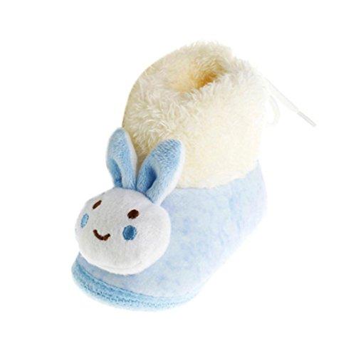 aby Schuhe Gehen Kleinkind Mädchen Jungen Krippe Schuhe Weiche Baumwolle Stiefel (0-12 Monate) (0~6 Month, Blau) (Mädchen Gehen Gehen Stiefel)