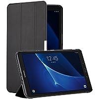 Samsung Galaxy Tab A 10.1 Hülle, EasyAcc Samsung Galaxy Tab A 10.1 Zoll T580/ T585 Case Schutzhülle Hochwertiges PU Leder - mit Automatischem Schlaf Funktion und Standfunktion (Schwarz, Ultra Dünn)