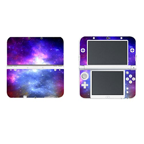 Vinyl Schützende Haut Aufkleber Cover Wrap für Neue Nintendo 3DS XL/LL Blau Lila Nebel -