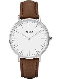 Cluse Damen Armbanduhr Analog Quarz Leder CL18210