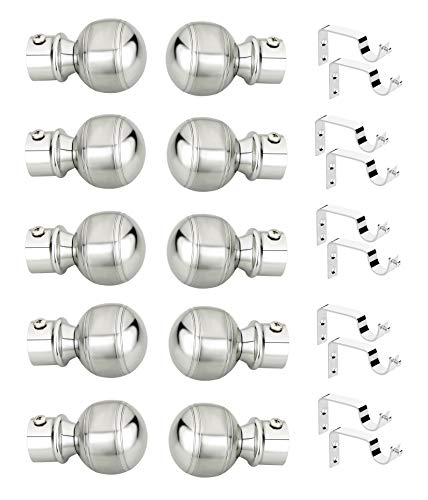 WSKTM Best Range Collection Stainless Steel Glossy Matte Series Curtain Bracket 5 Set Door and Window Fitting Hardware: WSK_CurtainBracket : (WS-F519/S100) at Rs. 1049.00