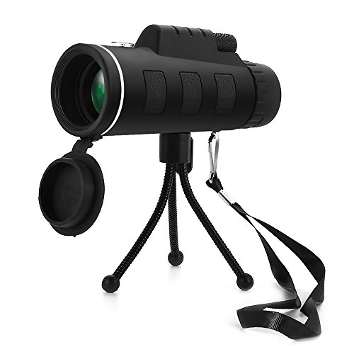 Monokular Teleskop, mesllin Super Clear 40x 60Fokus Zoom HD Optik BaK4-Wide View Handheld Okular, wasserdicht, mit Stativ für die Vogelbeobachtung Outdoor Sport Camping Reisen