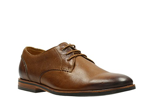 Clarks Mens Smart Broyd Walk Leather Shoes In Tan Wide Fit Size...