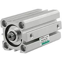 Sourcingmap - Sda 25-50 25 millimetri alesaggio 50 millimetri corsa tipo sottile cilindro pneumatico compatto