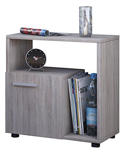 VCM 911667 Beistelltisch Koppio Zeitungsständer, Couchtisch, Nachttisch, 55 x 50 x 30 cm, Sonoma-eiche