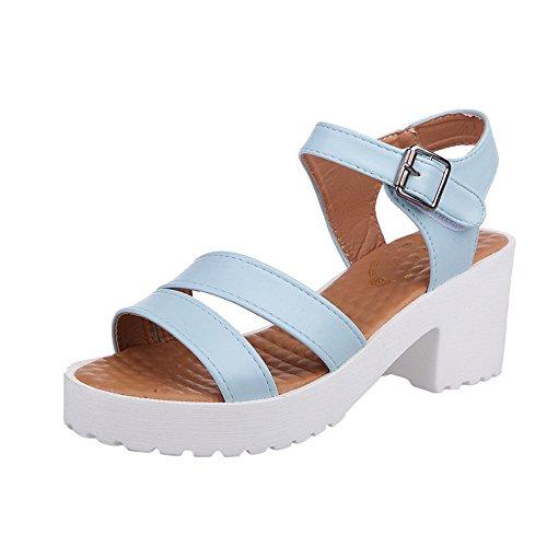 Ginli sandali,scarpe donna sandali bassi donna estivi donne all'aperto tacco tacco piattaforma tacchi alti sandali con zeppa scarpe pendio fibbia
