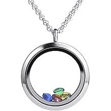 Meilanty Damen Halskette Magnet Floating Charms Living Memory Lockets Anhänger Kette