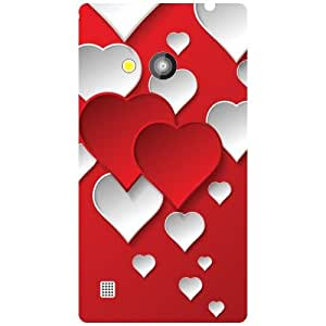 Via flowers Red Hearts Matte Finish Phone Cover For Nokia Lumia 720