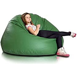 JUSThome Maxi Puff Cojín Gigante de piel ecológica Color: Verde