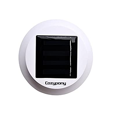 Cozypony®Solar Powerd Wireless 8 LED Security Motion Sensor Light, Outdoor Wall/garden Lamp / Motion Sensor-detector Activated / for Patio, Deck, Yard, Garden, Home, Driveway, Stairs, Outside Wall, with Dusk to Dawn Dark Sensing Auto on / Off Function - i