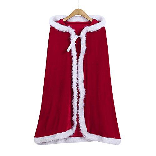 Sound6 Mantel Kap Lange Kinder von Gefroren Kinder Weihnachten Kostüm Mit Kapuze Cosplay Robe Zum Mädchen (rot) (Spam-halloween-kostüm)