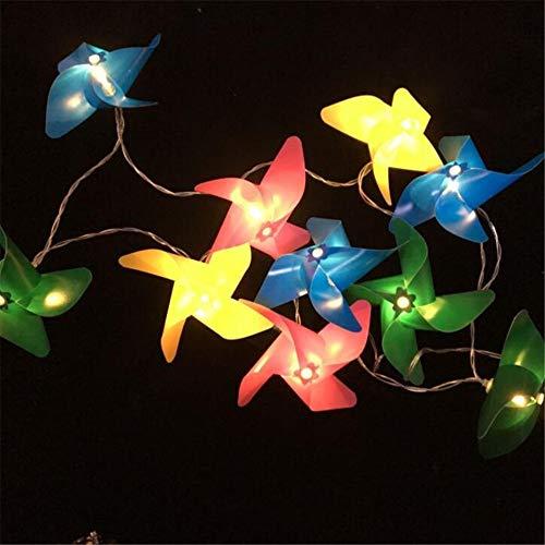 Farbiger Windmühlen-Licht-Garten, Schnur-Lichter Im Freien, Lichterketten-Dekorative Beleuchtung Für Garten, Patio, Yard, Weihnachten