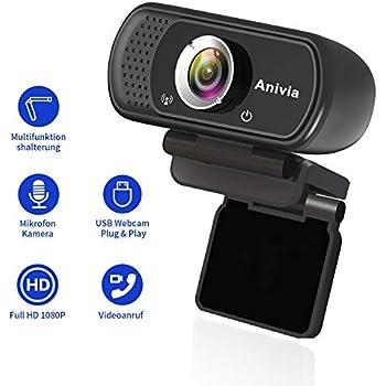 Anivia Usb Webcam Full Hd 1080p Laptop Webcam Mit Mikrofon Weitwinkel Eingebautes Stereo Sound Mini Plug And Play Webcam Videoanruf Videokonferenzen