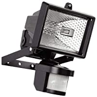 Hillington 400W Motion PIR Sensor Halogen Floodlight Security Garden Outdoor Light-Provided With A 400W C Class Halogen Bulb Which Is Shielded By Tempered Heat Resistant- Waterproof Ip56 Protection