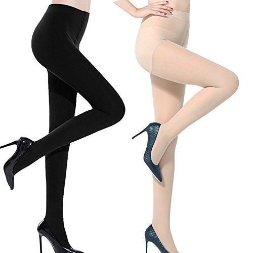 Mangotree Mode Schwarzes Kreuz Band Vintage Ausdehnungs-Strumpfhosen Pantyhose Ultradünne Strümpfe Bandage Jahrgang Leggings Strumpfhosen (One size, Schwarz + Nackt)