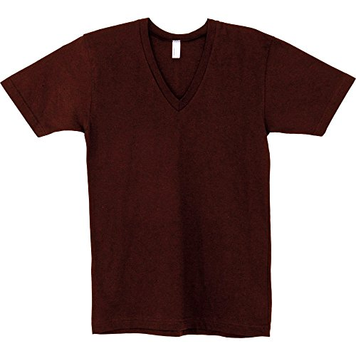 American Apparel Womens/Ladies Fine Jersey Short Sleeve V-Neck T-Shirt Cranberry