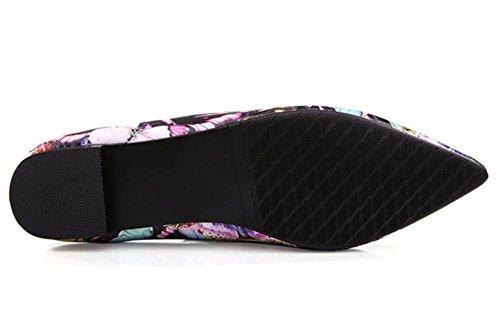2016 nuove scarpe casual scarpe da donna in pelle poco profonda della bocca di primavera ha sottolineato piatto con un singolo scarpe 2