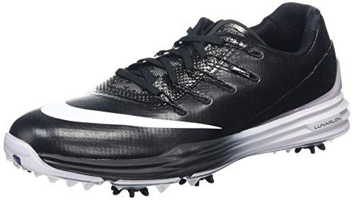 Nike Lunar Control 4, Chaussures de Golf Homme, Noir (Black/White), 43 EU