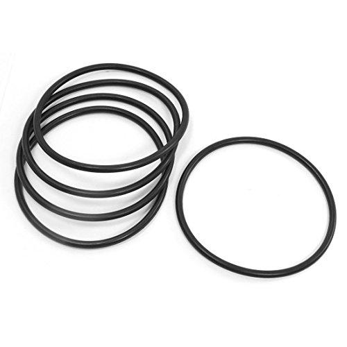 5x Öldichtungsring/O-Ring aus Gummi, 105x5 mm.