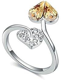 87e5a9895762 SonMo Joyas de Anillos Anillo de Diamantes Anillos de Chapado en Oro Anillo  de Hojas de