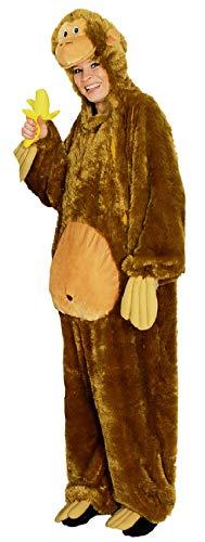 narrenkiste K332517-50-54 braun Damen Herren AFFE Affen Kostüm Schimpansen Orang Utan Overall ()