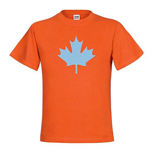 dress-puntos Kids Kinder T-Shirt Kanada Ahorn 20drp15t-kt00033-345 Textil orange / Motiv himmelblau Gr. 152/164 (T-shirt Kanada Unisex)