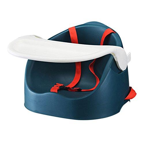 Multifunktionaler Babysitz, Portable Speisen/Fütterung Baby Booster Stuhl Soft Kleinkind Sitz mit Sicherheitsgurt Straps + Kissen (Farbe : Dark Green) (Ess-sitz-kissen)