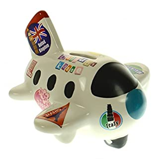Die Flugzeug Urlaubskasse Spardose aus Keramik