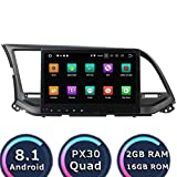 ROADYAKO 16GB Android 8.1 Autoradio für Hyundai Elantra 2015 Stereo 2016 mit GPS Navi 3G WiFi Spiegelverbindung RDS FM AM Bluetooth AUX