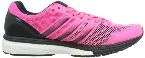 adidas Performance Adizero Boston Boost 5, Chaussures de running mixte adulte Rose (Neon Pink/Neon Pink/Black 1)