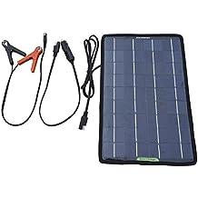 ECO-WORTHY 10W 12V Caricatore Caricabatterie Solare di Batteria Battery Charger per Auto Automobile Motocicletta