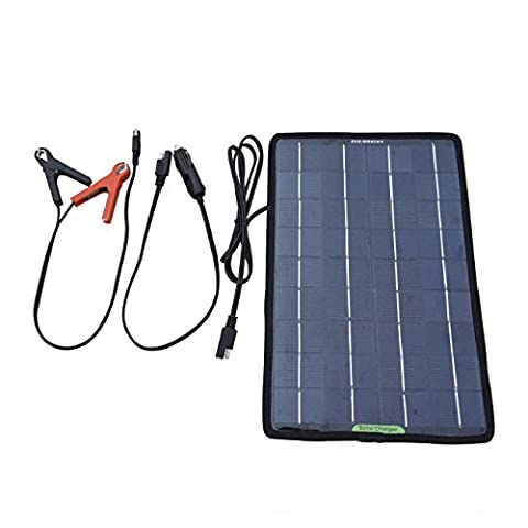 ECO-WORTHY 12 volts 10 watts portable Power Panneau solaire de sauvegarde battery charger for Car Boat with Alligator clip