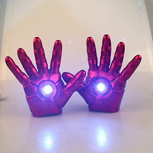 BLL Iron Man Handschuhe (1 Paar) können beleuchtet Werden, Finger können flexibel gebogen Werden, Erwachsenen- und Kinderspielzeug (Captain America Paar Kostüm)