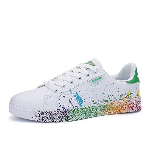 JEDVOO Uomo Donna Sneakers Scarpe da Ginnastica Basse Running Tennis Scarpe  Foundation(XCX800Green39) 9a2577ecafe