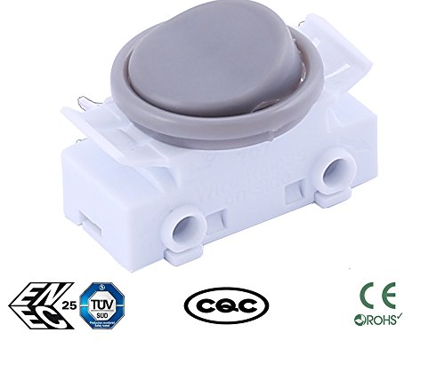 Rv Rocker Switches (Greenway grau 2A 250VAC On-Off-Round Rocker Button Switches für Auto Boot Armaturenbrett UK Verkäufer)
