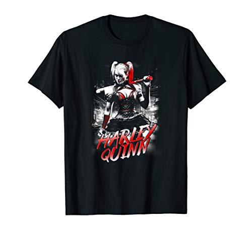 Batman: Arkham Knight Harley Quinn City T Shirt (Scarecrow In Arkham Knight)