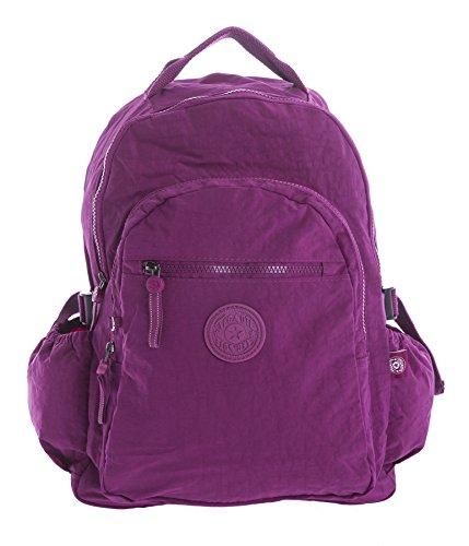 Big Handbag Shop , Damen Rucksackhandtasche violett Backpack Style 1 - Violet