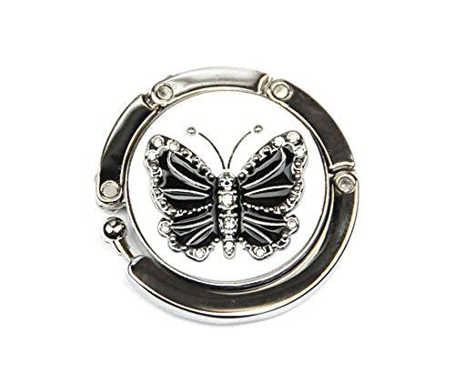 Schwarze und weiße Schmetterling Handtaschenhaken Aufhänger-Beutel -Halter (Lady Schmuck-halter)