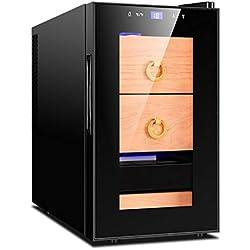 JCJ-Shop Caves à cigares électriques, avec Smart Touch et Purification des ions négatifs, étagères en Bois de cèdre Espagnol et tiroir avec hygromètre intégré