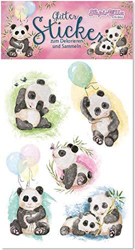 Neu 2019: Glitter-Sticker * SÜSSER Panda * von Lutz Mauder | 72305 | als Mitgebsel für Kinder | Aufkleber zum Kindergeburtstag & Basteln
