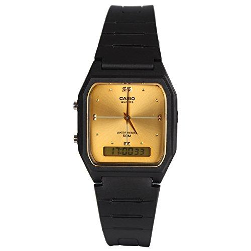 Casio Dual Time Armbanduhr (Schwarz / Gold)