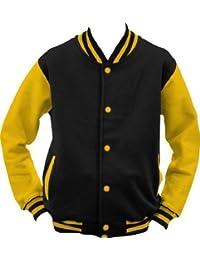 ShirtInstyle College Jacke Jacket Retro Style XL,Schwarzgelb
