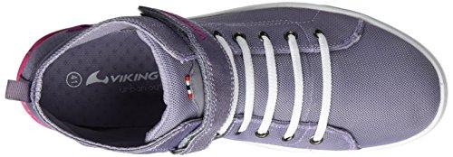 Viking Unisex-Erwachsene Frogner Mid Outdoor Fitnessschuhe Violett (Grey/Magenta)