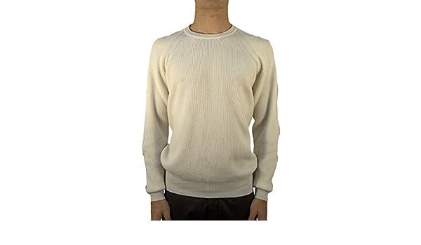 3603bb1636 Pullover cashmere girocollo costa inglese - Panna, 58: Amazon.it ...